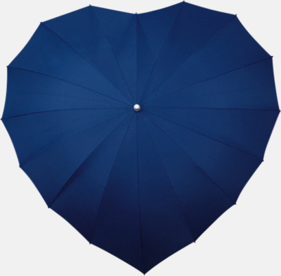 Marinblå Hjärtformade paraplyer med eget tryck