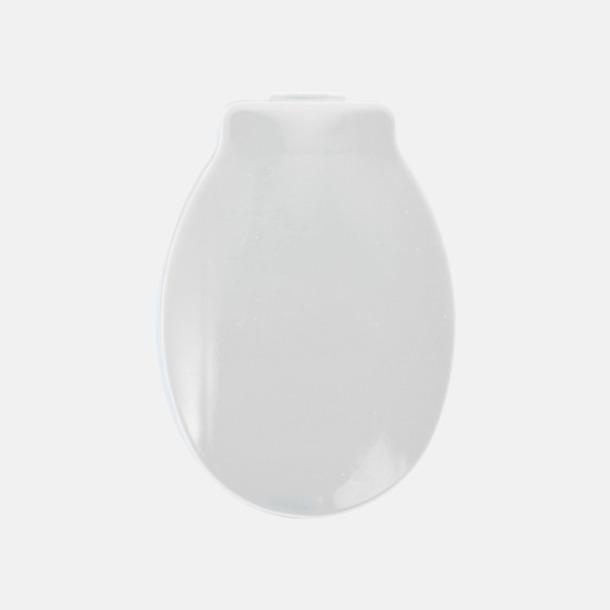 Vit (ovansida) Tandborstslock med sugpropp - med reklamtryck