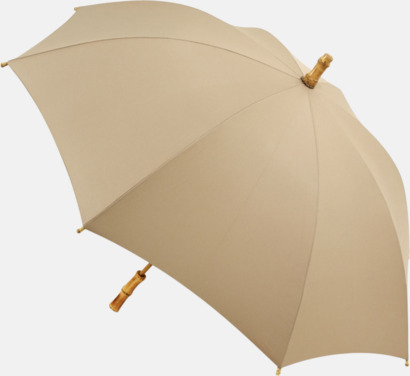 Beige Miljövänliga paraplyer med eget tryck
