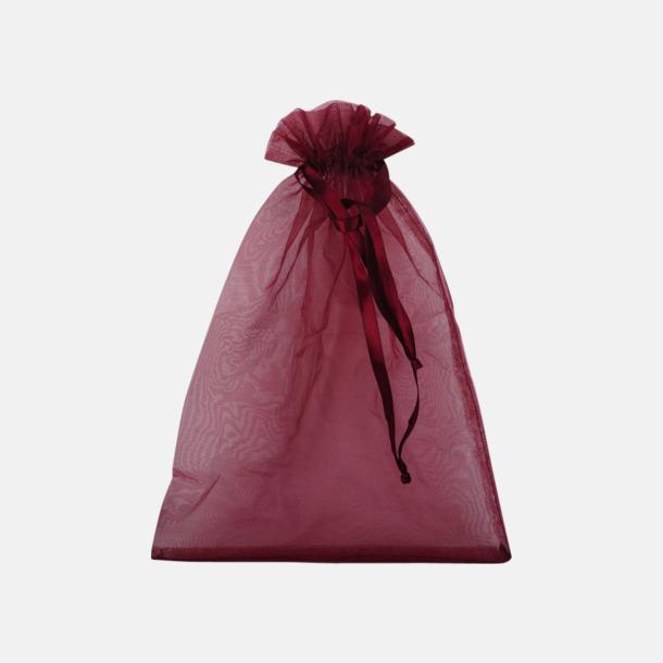 Röd (L) Färgglada presentpåsar i 4 storlekar med reklamtryck