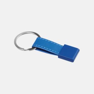 Nyckelring med bricka och band i valbar färg - med reklamtryck