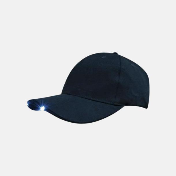 Marinblå Keps med inbyggda lampor - med reklambrodyr