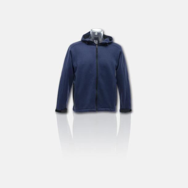 Denim/Svart Soft shell-jackor i herr- & dammodell med reklamtryck
