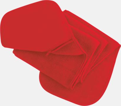Röd Halsduk med praktisk ficka - med reklamtryck