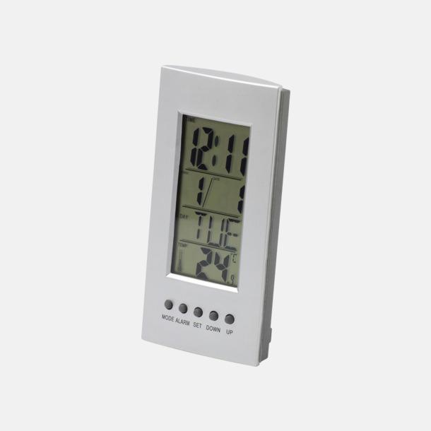 Termometer med klocka & larm - med reklamtryck