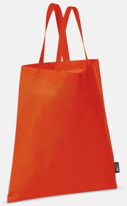 Röd (korta handtag) Billiga kassar med korta eller långa handtag - med reklamtryck