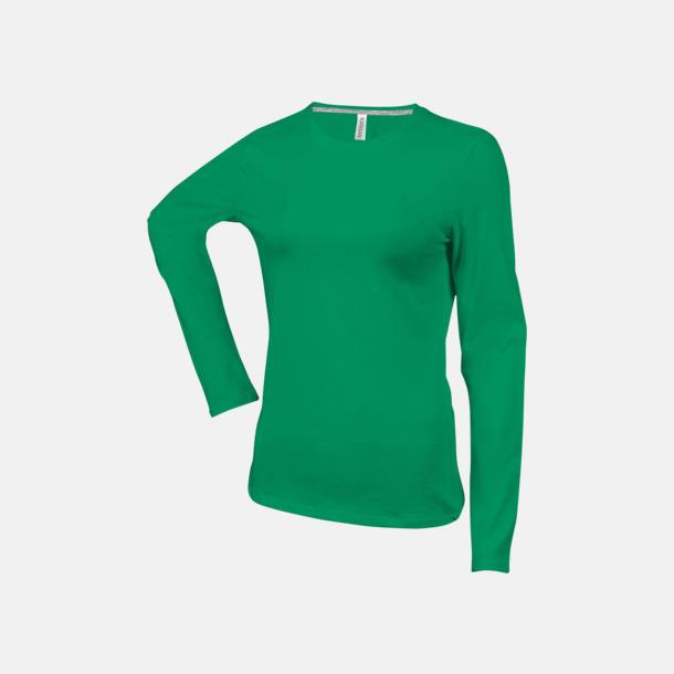 Kelly Green (crewneck, dam) Långärmad t-tröja med rundhals för herr och dam med reklamtryck
