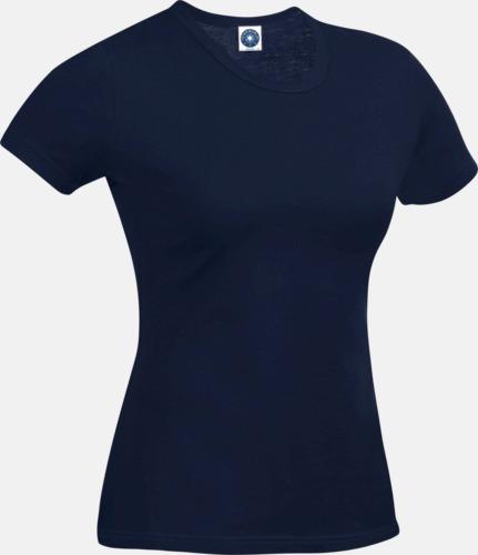 Deep Navy (dam) Funktions t-shirts i herr- & dammodell med reklamtryck