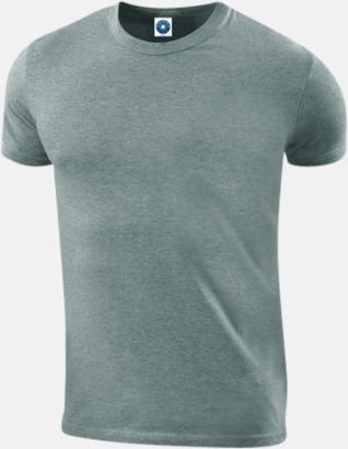 Heather Grey Herr t-shirts i ekologisk bomull