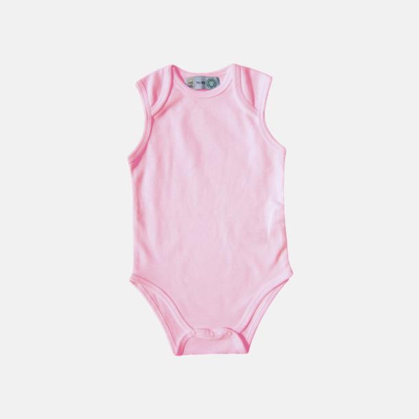Babypink Ekologiska bodyvästar för bebisar med reklamtryck