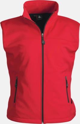 Röd (dam) Trail Softshellväst med eget reklamtryck eller brodyr