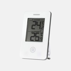 Termometrar som visar inne- & utetemperatur - med reklamtryck