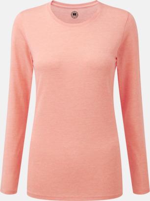 Coral Marl (dam) Färgstarka långärms t-shirts i herr-, dam och barnmodell