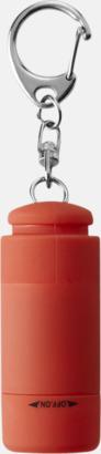 Röd Laddningsbara ficklampor med USB-nyckel