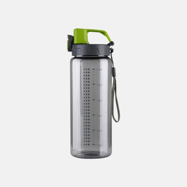 Grå / Limegrön Sportiga vattenflaskor med eget reklamtryck