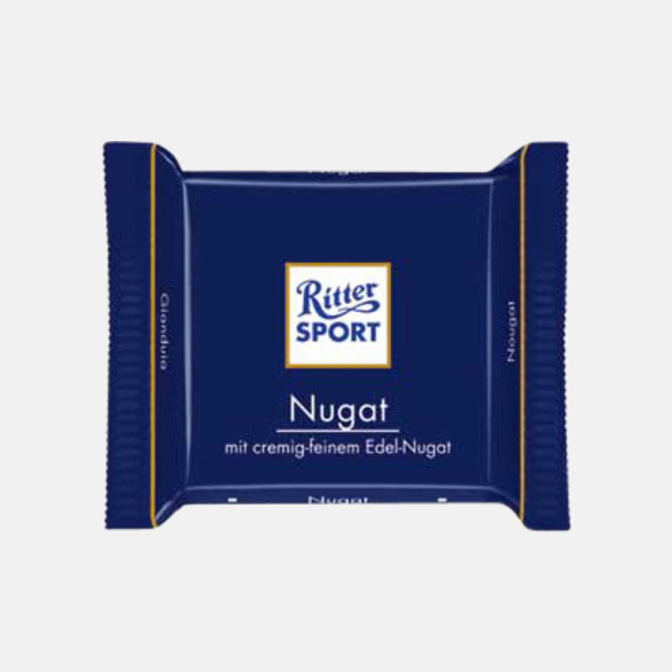 Nougat Chokladrutor från Ritter med rekalmtryck