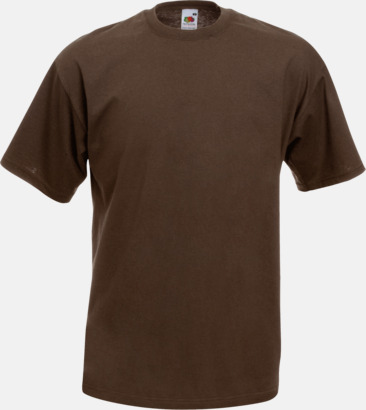 Chocolate Valueweight t-shirt med tryck