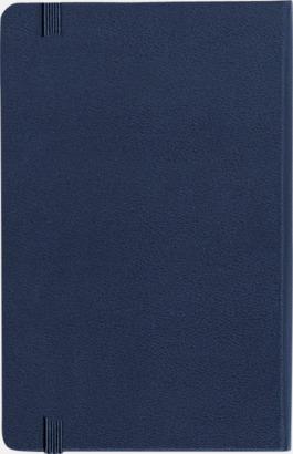 Baksida Moleskines stora anteckningsböcker med linjerade eller rutade sidor - med reklamtryck