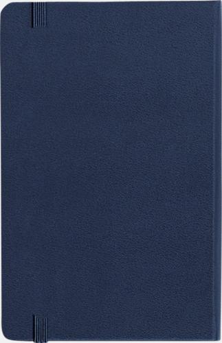 Baksida Moleskines stora anteckningsböcker (ca A5) med linjerade eller rutade sidor - med reklamtryck