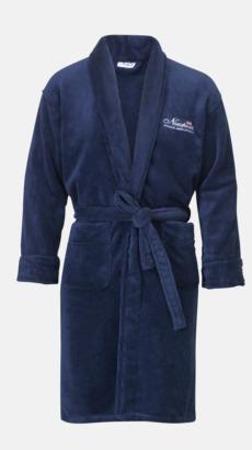 Marinblå Morgonrock i tjockt mjukt tyg