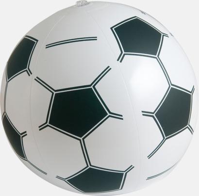 Vit / Svart Uppblåsbara badbollar med fotbollsmönster - med reklamtryck