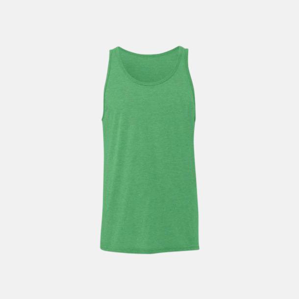 Green Triblend (heather) Bomullslinnen i unisexmodell med reklamtryck