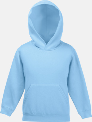 Sky Blue Tjocktröjor med huva och framficka för barn