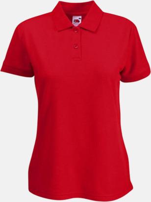 Röd Dampiké med tryck eller brodyr
