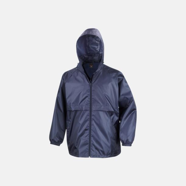 Marinblå Vindtäta jackor med reklamtryck