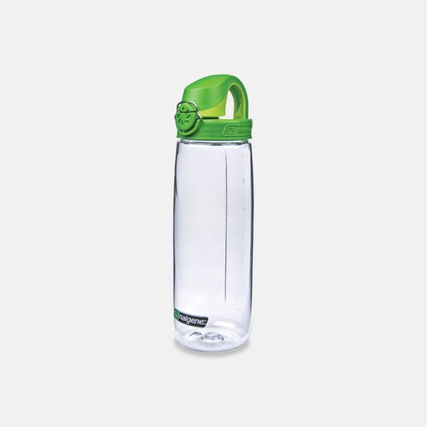 Transparent/Grön Enhandsvänlig vattenflaska