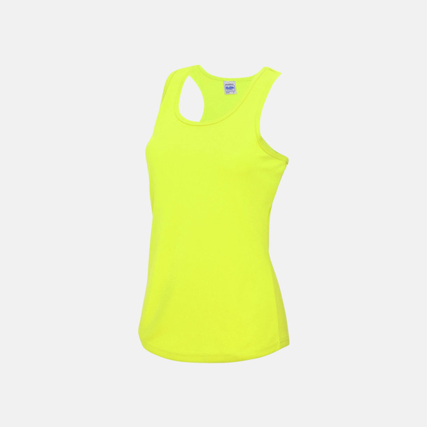 Electric Yellow (dam) Enfärgade funktionslinnen i unisex-, dam & barnmodell med reklamtryck