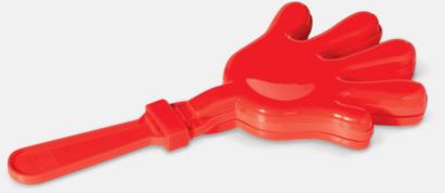 Röd Skallra med reklamtryck