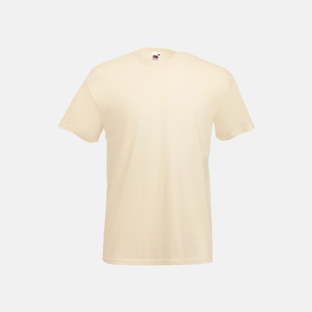 Natural Valueweight t-shirt med tryck