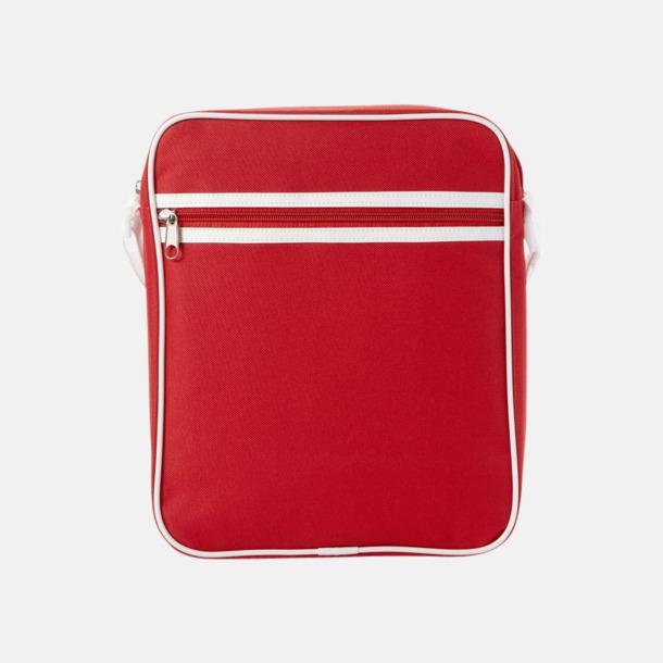 Röd Liten väska med retrokänsla - med reklamtryck