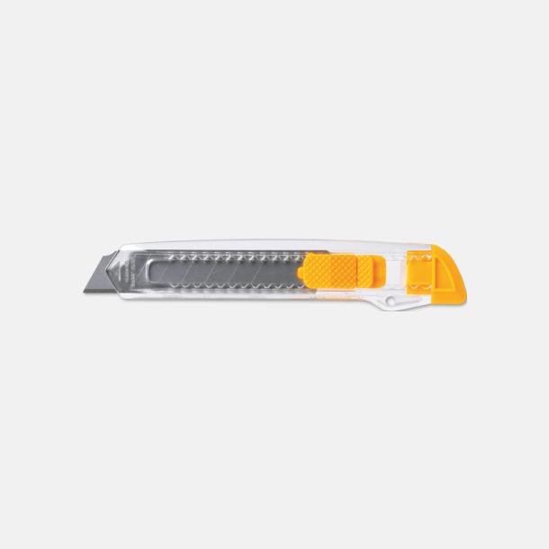 Gul / Transparent Billiga brytbladskniv med reklamtryck