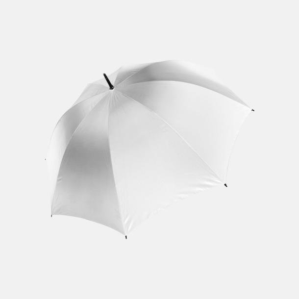 Vit Stormsäkra, 2-färgade paraplyer med reklamtryck