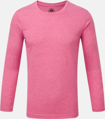 Pink Marl (pojke) Färgstarka långärms t-shirts i herr-, dam och barnmodell
