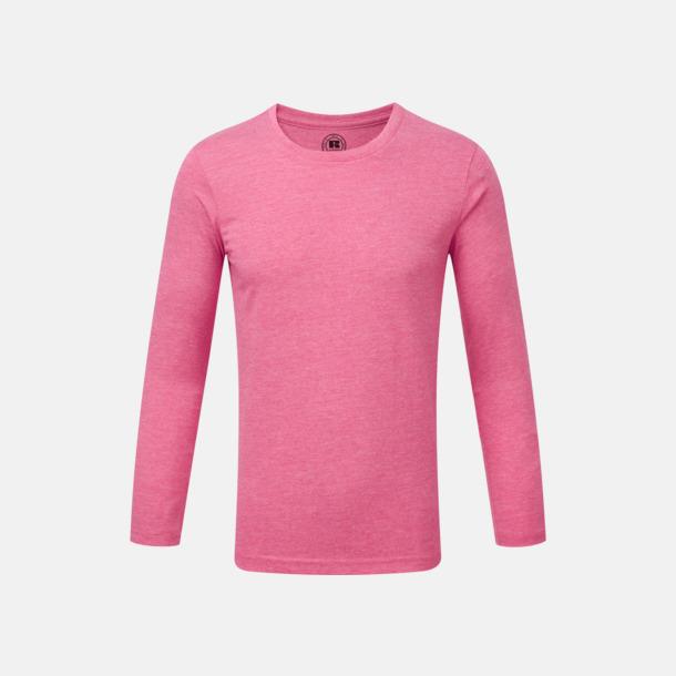 Pink Marl (barn) Färgstarka långärms t-shirts i herr-, dam och barnmodell