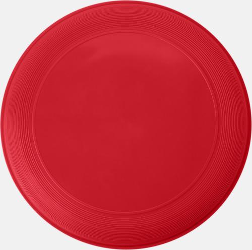 Röd Sportiga frisbees i många färger med reklamtryck