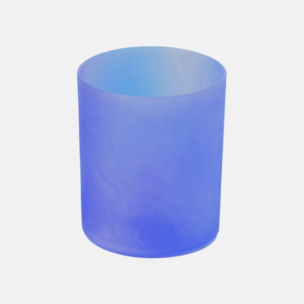 Blå Lykta med LED-lampa - med reklamtryck