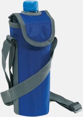 Blå Kylväska för flaska - med reklamtryck
