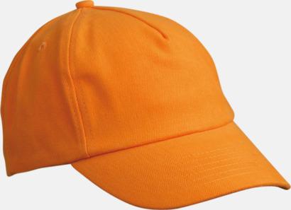 Orange Sportiga barnkepsar med egen brodyr