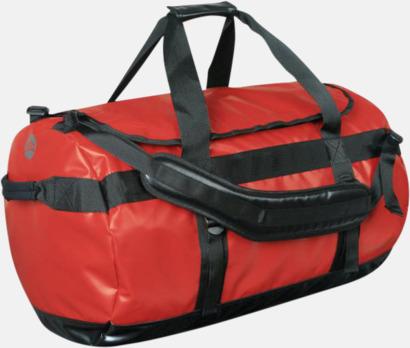 Röd/Svart Vattentäta bagar & ryggsäckar med reklamtryck