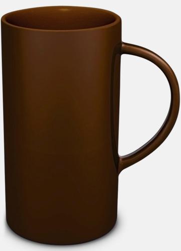 Brun Cylinderformade stengodsmuggar med eget tryck