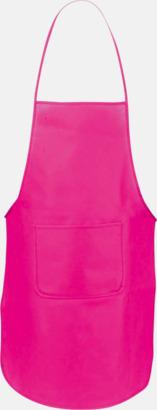 Rosa Billiga förkläden i många färger - med reklamtryck