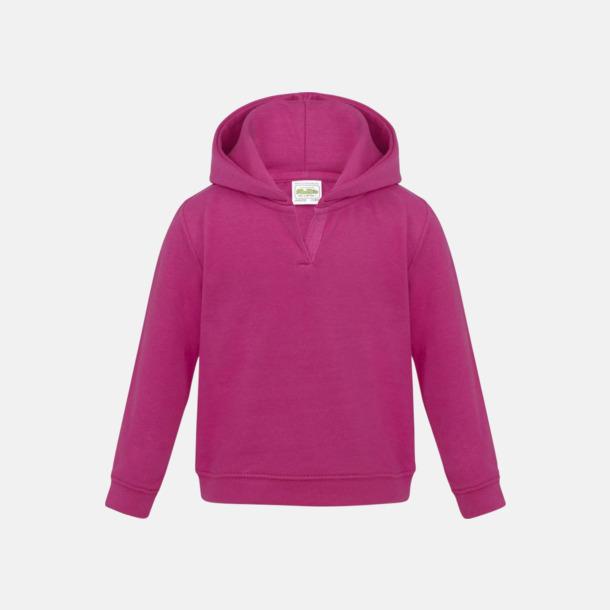 Hot Pink Mjuka huvtröjor för bebisar - med reklamtryck