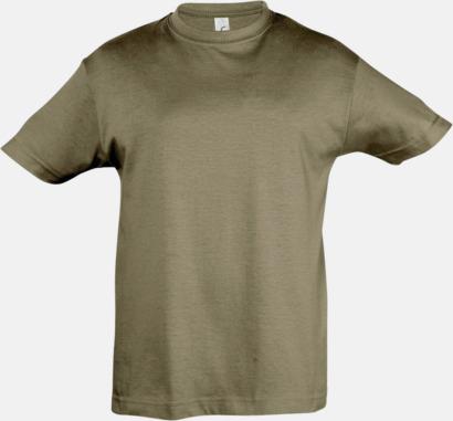 Army Billig barn t-shirts i rmånga färger med reklamtryck