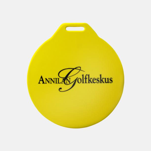 Gul (1-färgstryck) Klassiska bagbrickor med reklamtryck