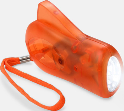 Orange Miljövänliga ficklampor med eget tryck