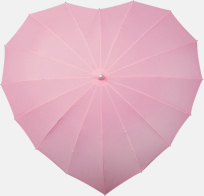 Ljusrosa (PMS 2365C)  Hjärtformade paraplyer med eget tryck